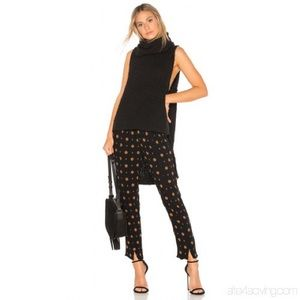 FREE PEOPLE Black combo ankle rayon pants Small